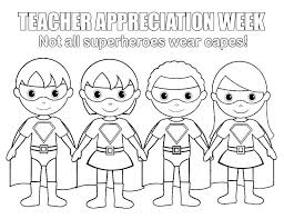Coloring Pages Teacher Appreciation Coloring Pages Teachers Day