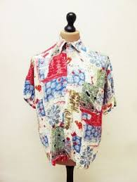 90s Pattern Shirts Custom Vintage 48s Crazy Pattern Picasso Print Party Hawaiian Geometric