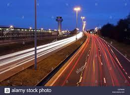 Roads Lights Perfume Airport Road Night Stock Photos Airport Road Night Stock
