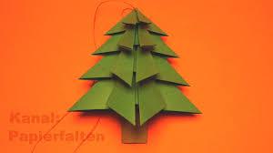Tannenbaum Basteln Für Weihnachten Einfach Zu Falten Ist