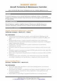 Aircraft Mechanic Resume Examples Aircraft Technician Resume Samples Qwikresume
