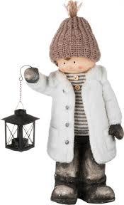 <b>Фигурка декоративная Lefard Детишки</b> в снегу, 248-031, белый ...