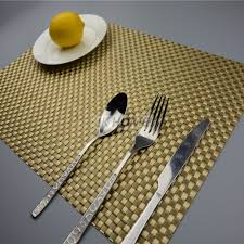 table placemats. jankng 4pcs/lot luxury dinner placemats pvc place table mats best gold silver tableware dinnerware kitchen pads tools-in \u0026 from home t