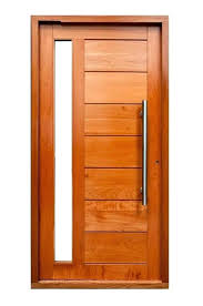 custom wood door with glass wooden door