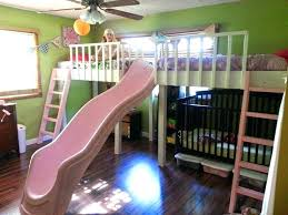 kids loft bed with slide. Diy Kids Loft Bed Double Bunk With Slide Girl .