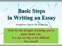 steps of writing an essay authorstream