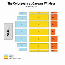 Casino Windsor Seating Chart Caesars Windsor Floor Plan Fresh Caesars Colosseum Seating