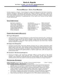 Resume For Supply Chain Management New Supply Chain Management