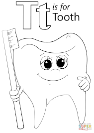 Small Picture Letter T is for Tooth coloring page Free Printable Coloring Pages