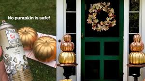 Design Master No 731 Brilliant Gold Colortool Spray Creating Metallic Pumpkins And Matching Metallic Wreath For Halloween