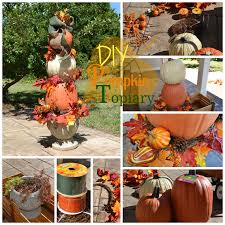 easy diy pumpkin topiary tutorial
