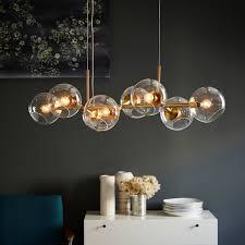 staggered glass chandelier 8 light west elm glass orb chandelier