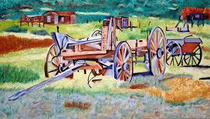 112 original painting wagon on the ranch farm house vincent van gogh stl
