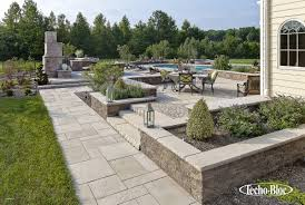 ... Fire Pit On Patio Pavers Awesome Techo Bloc Fireplace Outdoor Kitchen  Patio Pool Stoop ...