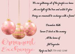 Ornament Gift Exchange Christmas Party Invitations 2019