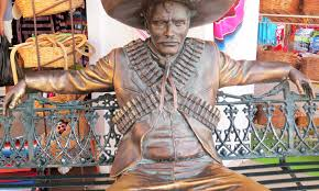 ramiz barquet wandering through time and place puerto vallarta sculpture of pancho villa photo by curtis mekemson