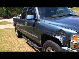 what should I do to fix 2006 GMC Sierra wrecked fender - YouTube