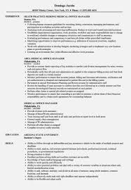 Resume Templates Medical Office Manager Sample Exciting Job Best Of