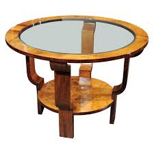Nice Art Deco Coffee or End table with glass