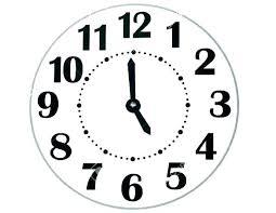 Clock Face Template Free Dufresneassociates Com