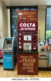 Costa Vending Machine Magnificent A Costa Coffee Express Machine In A Supermarket Grocery Store Stock