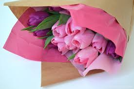 How To Wrap Flower Bouquet In Paper How To Wrap A Flower Bouquet The Things She Makes