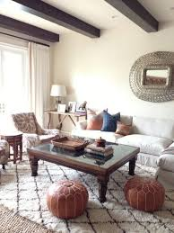 Leather Pouf Living Room
