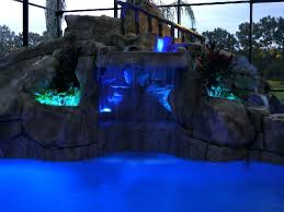 pool waterfall lighting. Waterfall Lighting Blue Landscape Led Swimming Pool N