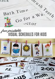 Free Visual Schedule Printables To Help Kids With Daily
