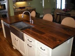 attractive walnut butcher block countertops
