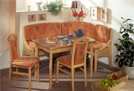 breakfast furniture sets. Decorations:Bright Small Breakfast Nook Set With Corner Orange Floral Bench And White Wall Paint Furniture Sets G