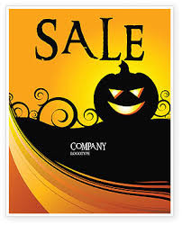 halloween sale flyer halloween is near sale poster template in microsoft word