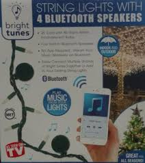 Bluetooth Speaker String Lights Classy Bright Tunes String Lights W Four Bluetooth Speakers Warm White