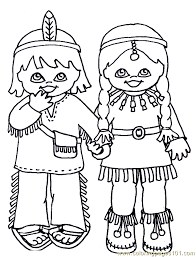 Printable Native American Coloring Pages Courtoisieng Com Color