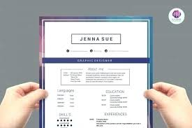 Modern Newsetter Resume Templates One Page Resume Template Free