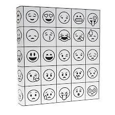 Illustrator Coloring Binder In A Emoji Design 1 Inch 3 Ring Binder