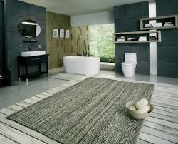grey laminate floor with best textured extra large bath rugs for modern bathroom ideas with elegant charcoal grey wall