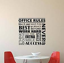 motivational office pictures. Office Rules Wall Decal Work Hard Think Positive Inspirational Lettering Vinyl Sticker Motivational Decor Poster Art Pictures