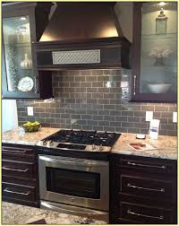 Dark Gray Subway Tile Backsplash Home Design Ideas