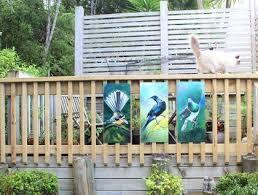 kiwiana garden art special price for 3 birds new zealand tui fantail  on outdoor wall art new zealand with kiwiana garden art special price for 3 birds new zealand tui