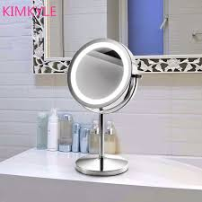 springquan fashion hot ing quality 7inches led make up desktop mirror with light 2