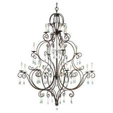 cau 16 light mocha bronze chandelier