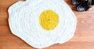handmade crochet rugs that look like your favorite foods