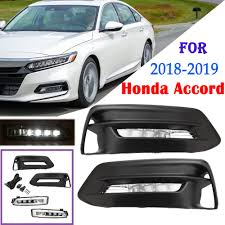 Fog Lights Honda Accord 2018 Details About For 2018 2019 Honda Accord Pair Front Bumper Fog Light Lamp W Bulb Switch Kit