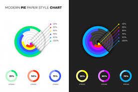 Modern Pie Chart Modern Paper Style Pie Chart Vector Premium Download