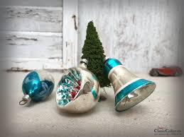 Christbaumschmuck Antik Baumschmuck Aus Glas Glocke Olive Reflexkugel Weihnachtsschmuck Vintage Weihnacht Weihnachtsbaum Hw3107