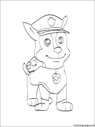 Skye Paw Patrol Coloring Pages Chase Paw Patrol Coloring Page