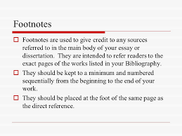 bibliographies footnotes waid academy library ppt  8 footnotes  footnotes