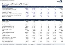 Excel Roi Template Roi Templates Magdalene Project Org