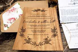 dana matt's rustic floral wood veneer wedding invitaions Real Wood Wedding Invitations letterpress wood wedding invitations by birds of a feather via oh so beautiful paper (3 real wood wedding invitations custom